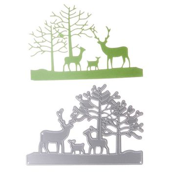 Kids Cutting Dies Stencil Deer Family Draw Toys