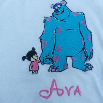 Sully from Monsters Inc. Inspired  Shirt or Onesuit with Monogram
