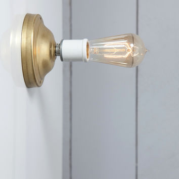 Brass Wall Sconce - Bare Bulb