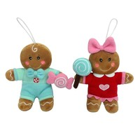 St. Nicholas Square 2-piece Gingerbread Christmas Ornament Set