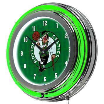 Boston Celtics Game Room Premium Neon Clock