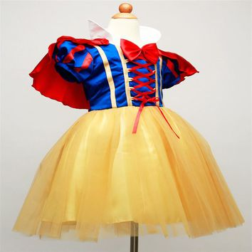Hot New year Children Girls fancy Cosplay Dress Snow White Princess Dress for Halloween Christmas costume Clothes Party Dresses
