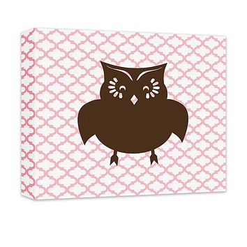 Owl I Children's Canvas Wall Art