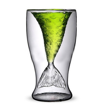 Clear 100ml Mermaid Shape Shot Glass