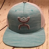 Hooey Wrap Turquoise/White Trucker Snap Back Hat 1729T-TQGY
