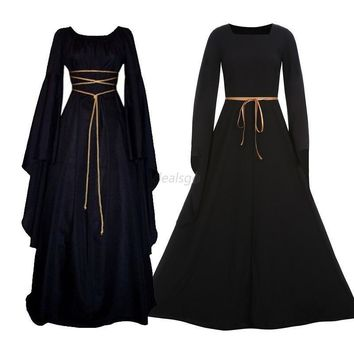 Lady Medieval Dress Renaissance Vintage Gothic Dress Cosplay Dresses Retro Gown
