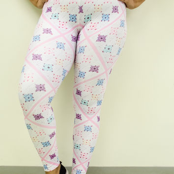'Pretty Baby' Crochet Print Granny Square Leggings