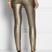 J Brand | L8001 metallic stretch-leather skinny pants | NET-A-PORTER.COM