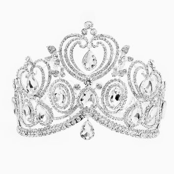 """Halle"" Rhinestone Princess Crown"
