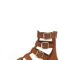 Gait Keeper Tan Gladiator Sandals