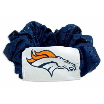 MKW 8669925898 Denver Broncos Hair Twist Ponytail Holder