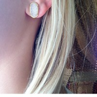 Ellie Stud Earrings in Iridescent Drusy - Kendra Scott Jewelry
