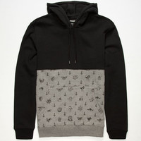 Rvca Benjamin Mens Hoodie Black  In Sizes
