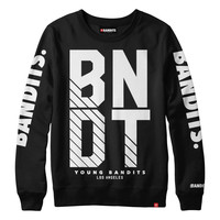 BNDT - Black - Men's Knit French Terry S/S Crew Sweatshirt
