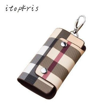 Fashion Women Housekeeper Leather Key Holder Home Key Chain Female Patterns Key Organizer Man Car Cover Driving