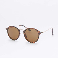 Preppy Stillwater Tortoiseshell Metal Sunglasses - Urban Outfitters