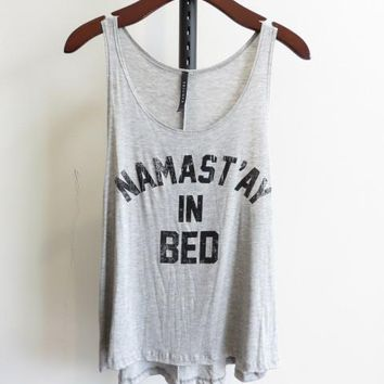 Mirror Mirror Namastay Burnout Tank Top