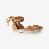 perforated espadrille flat