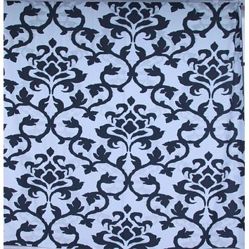Black and White Damask Platinum Cloth Backdrop 10x10 - LCPC03PCSL122 - LAST CALL