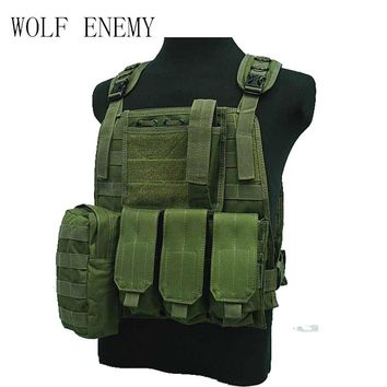 Tactical Combat Airsoft Paintball Hunting Shooting Combat Molle Vest Chest Rig Harness W/ Triple 5.56mm Mag Pouch Multicam