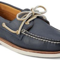 Sperry Top-Sider Gold Cup Authentic Original 2-Eye Boat Shoe Navy, Size 10.5W  Men's Shoes