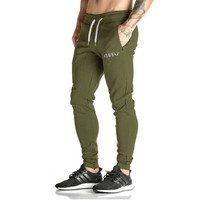 Pants Mens Tracksuit Sports Bottoms Cotton Fitness Skinny Joggers Sweat Pants