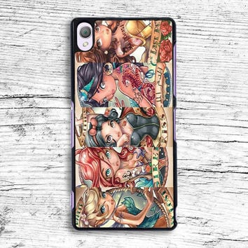 Tattooed Disney Princess Sony Xperia Case, iPhone 4s 5s 5c 6s Plus Cases, iPod Touch 4 5 6 case, samsung case, HTC case, LG case, Nexus case, iPad cases
