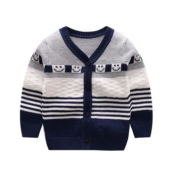 Soft Knitting Baby Sweater Striped Newborn Girls Sweaters Cotton Casual Infant Cardigan Boys Sweater Autumn Winter Baby Clothing