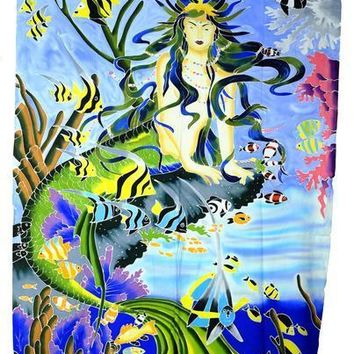 Hand Batiked Mermaid Sarongs