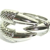 Claw Cuff Hinged Dragon Eagle Talon Bangle Silver Bracelet Vintage Fashion Jewelry - Like Love Buy