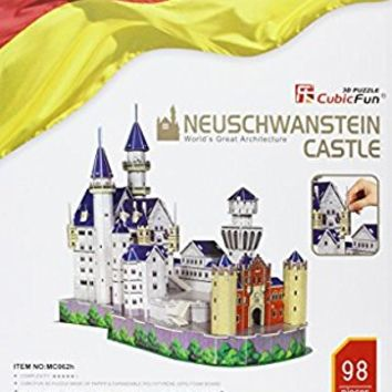Neuschwanstein Castle 3D Puzzle With Book 98-Piece