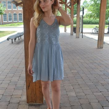 In A New Light Lace Dress
