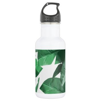 Tropical Leaf Water Bottle