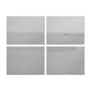 Gray Water, Fog and Rain Landscape Canvas Print