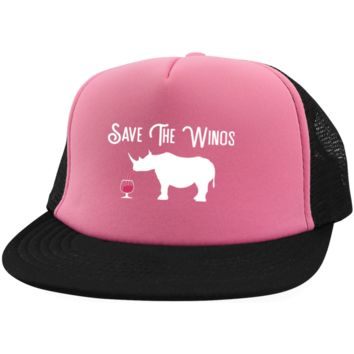 Wine Trucker Hat Save The Winos