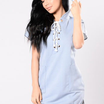 Word Of Mouth Tunic - Dusty Blue