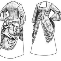 Truly Victorian Style Ladies 1873 Polonaise Costume sewing pattern by 1aokgal