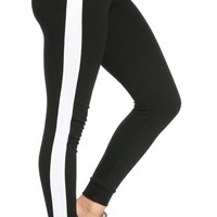Cuffed Tracksuit Joggers in Black