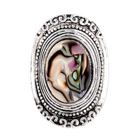 Unique AntiqueAbalone Shell Rings ~ Bohemia Style