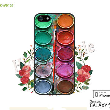 Phone Cases, iPhone 5/5S Case, iPhone 5C Case, iPhone 4/4S Case, Water color paint set S3 S4 S5 Note 2 Note 3 Case for iPhone-B0109