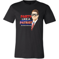 Party Like A Patriot Ronald Reagan Funny USA 4th Of July T Shirt