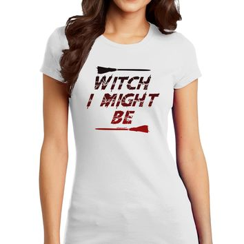 Witch I Might Be Juniors Petite T-Shirt by TooLoud