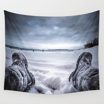 Frostbite Wall Tapestry by HappyMelvin