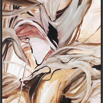 HEART STRINGS 28L X 28H Floater Framed Art Giclee Wrapped Canvas