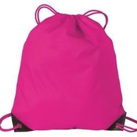Port Authority Basic Drawstring Backpack - Tropical Pink BG85