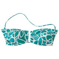 Mossimo® Women's Mix and Match Print Bandeau Swim Top -Peppermint