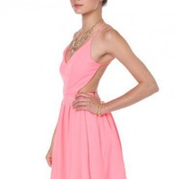 Luna Dress in Neon Pink - ShopSosie.com