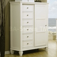 Sandy Beach 4 Pcs Bedroom Set (Bed, Nightstand, Dresser and Mirror) - Coaster Co. | Bedroom sets COA-201309-SET-4/8