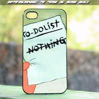Patrick star To do List design for iPhone 4/4s , iPhone 5/5s, iPhone 5c and samsung galaxy s3 s4 Case