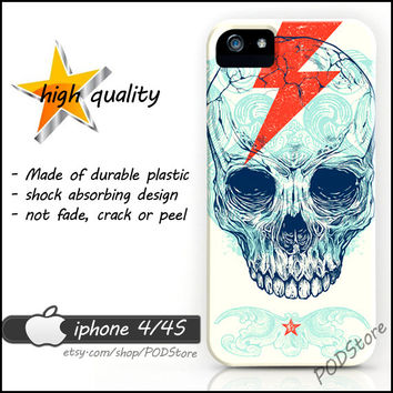 Flash Skull iphone 4 case Death Skull iphone4 casing Day Of The Dead Rare